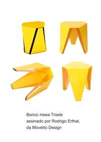 Banco mesa Triade assinado por Rodrigo Erthal da Movetto Design