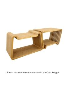 Banco modular Hornacina assinado por Caio Bragga