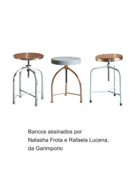 Bancos assinados por Natasha Frota e Rafaela Lucena da Garimporio