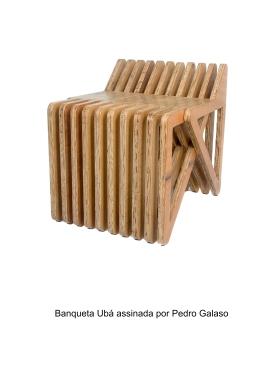Banqueta Ubá assinada por Pedro Galaso