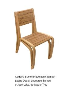 Cadeira Bumerangue assinada por Lucas Dubal, Leonardo Santos e José Leite do Studio Tree