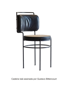 Cadeira Iaiá assinada por Gustavo Bittencourt