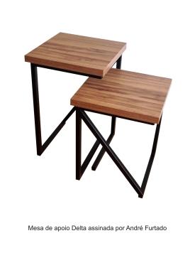 Mesa de apoio Delta assinada por André Furtado