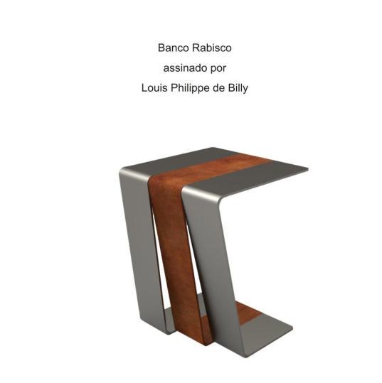 Banco Rabisco assinado por Louis Philippe de Billy