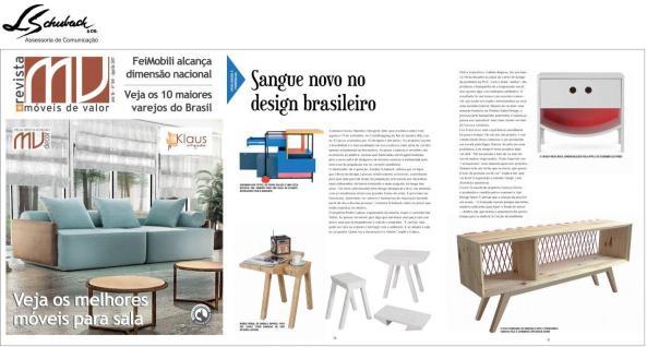 Exposição NOVOS TALENTOS BRASILEIROS na revista Móveis de Valor de agosto de 2017