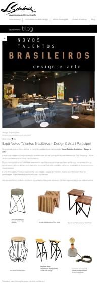 Exposição NOVOS TALENTOS BRASILEIROS no blog da Luiza Bomeny em 9 de maio de 2017