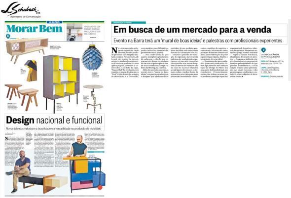 Exposição NOVOS TALENTOS BRASILEIROS no caderno Morar Bem em 30 de julho de 2017