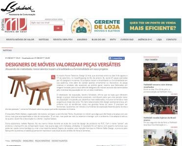 Exposição NOVOS TALENTOS BRASILEIROS no portal Móveis de Valor em 1 de agosto de 2017