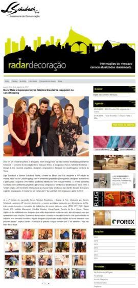 Exposição NOVOS TALENTOS BRASILEIROS no Radar Decoração em 9 de agosto de 2017