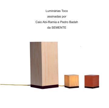Luminárias Toco assinadas por Caio Abi-Ramia e Pedro Badah da SEMENTE