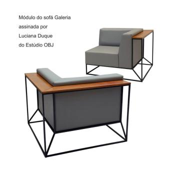 Módulo do sofá Galeria assinada por Luciana Duque do Estúdio OBJ