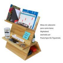Mesa de cabeceira para cama baixa Nightstand assinada por Paula Agra De Figueiredo