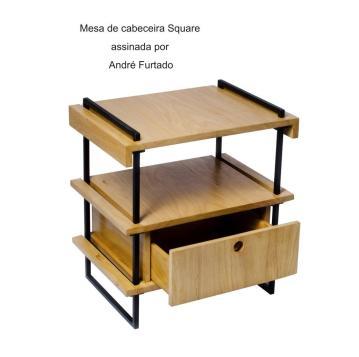 Mesa de cabeceira Square assinada por André Furtado