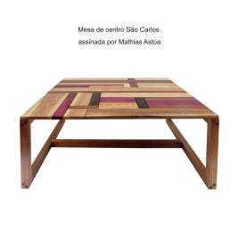 Mesa de centro São Carlos assinada por Mathias Astúa