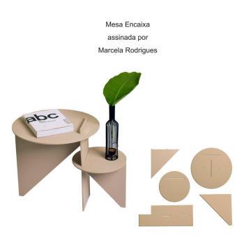 Mesa Encaixa assinada por Marcela Rodrigues
