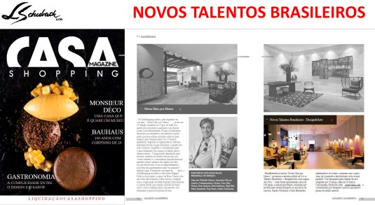 Exposição NOVOS TALENTOS BRASILEIROS na revista Magazine CasaShopping em janeiro de 2019
