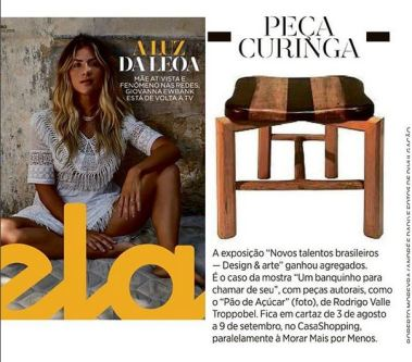 NOVOS TALENTOS BRASILEIROS na revista Ela do jornal O Globo em 29 de julho de 2018
