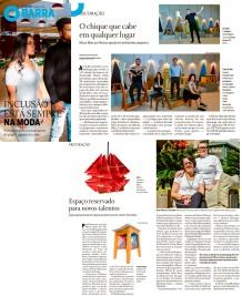 NOVOS TALENTOS BRASILEIROS no caderno Globo Barra do jornal O Globo em 5 de agosto de 2018