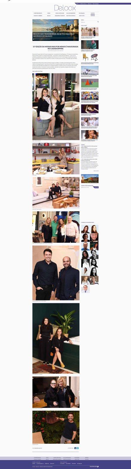 NOVOS TALENTOS BRASILEIROS no site DELOOX em 3 de agosto de 2018