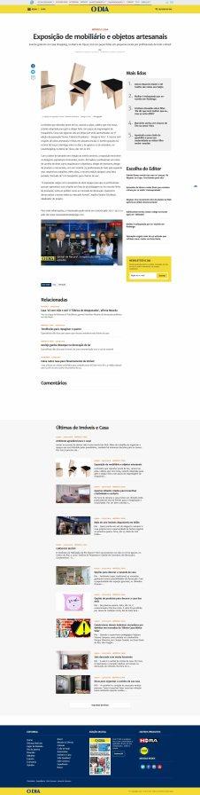 NOVOS TALENTOS BRASILEIROS no site do jornal O Dia em 29 de julho de 2018