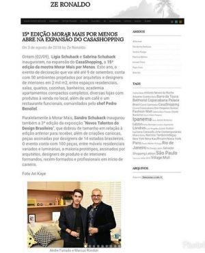 NOVOS TALENTOS BRASILEIROS no site do Ze Ronaldo Muller em 3 de agosto de 2018